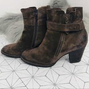 Paul Green Suede Ankle Boots